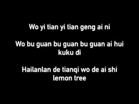 Lemon Tree Chinese Lyrics (PinYin)