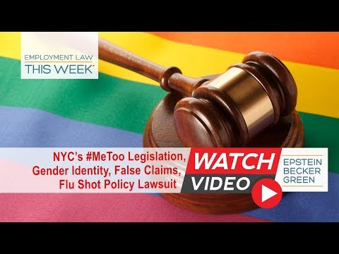Employment Law This Week® - Episode 109 - Week of March 19, 2018