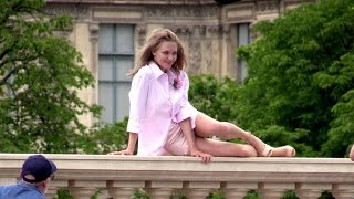 EXCLUSIVE: Amanda Seyfried shooting a Givenchy commercial on a bridge in Paris
