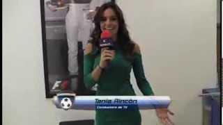 Tania rincon mini vestido rojo
