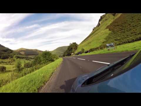 mountain downhill Near Corris A487