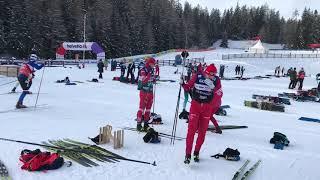 Начало Tour de ski 2019 Лыжные гонки Сборная России