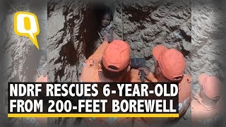 Boy Trapped in 200-Feet Borewell Rescued After 16 Hour Operation | The Quint