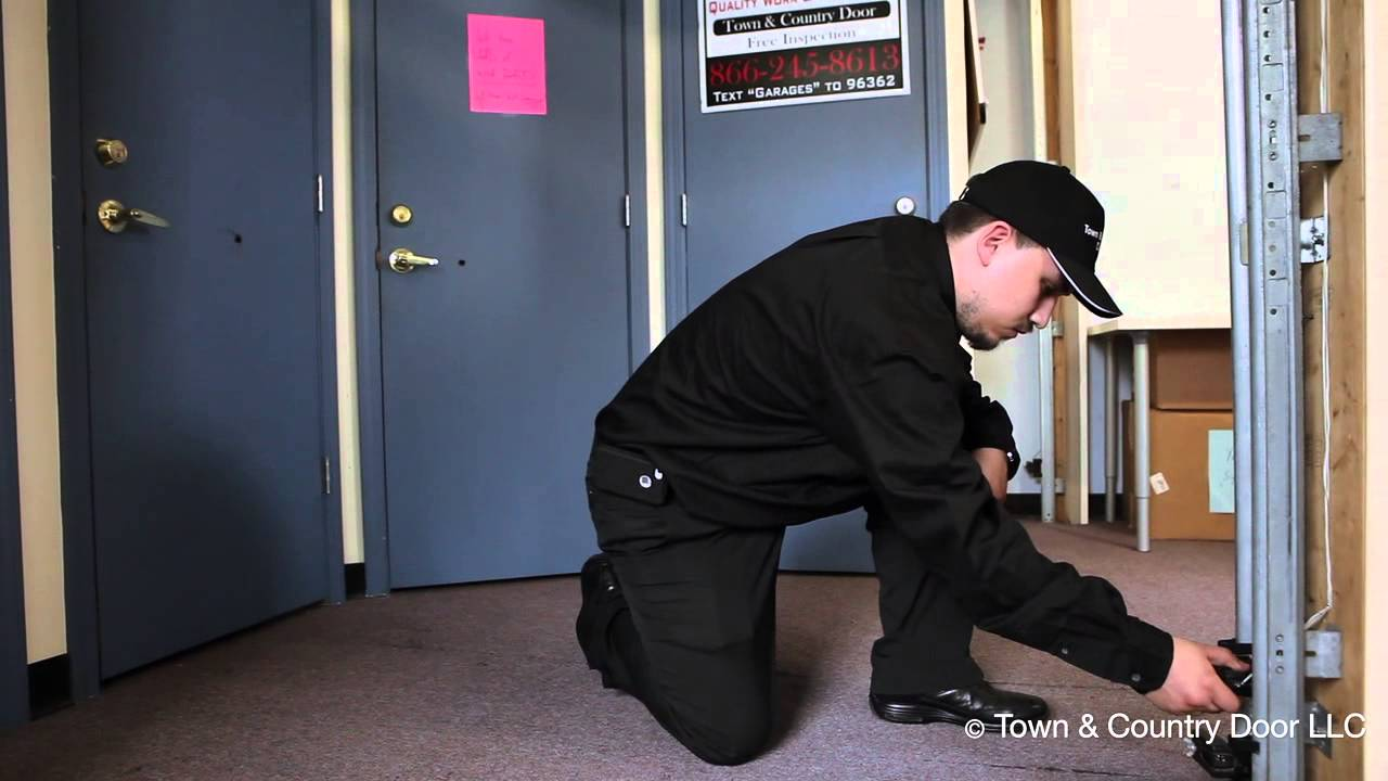 How To Adjust Safety Reversing Sensors Of The Grage Door Town