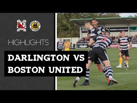 Darlington 2-1 Boston United - Vanarama National League North - 2019/20