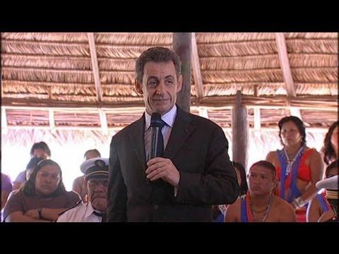 """Sarkozy en Guyane : """"je suis là et je reviendrai"""""""