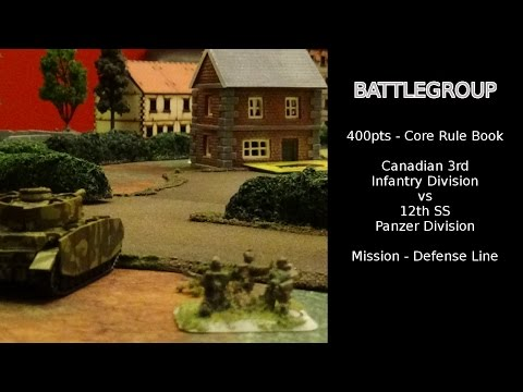 Battlegroup Battle Report - 3rd Canadian vs 12th SS / 400pts