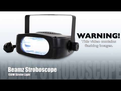 Beamz Stroboscope Power Strobe Club Light Party Disco DJ Lig