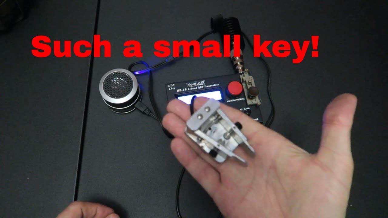 Small, lightweight morse code keys for portable CW QRP operations with my  HB1B