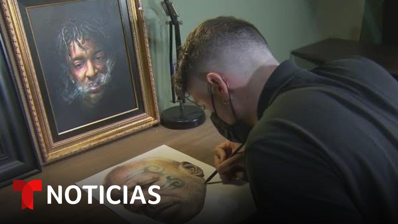 Este artista de los tatuajes cambió la piel por el lienzo, y le ha ido muy bien | Noticias Telemundo