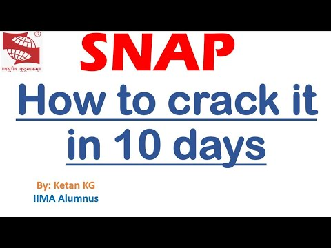 SNAP How to crack SNAP exam in 10 days?