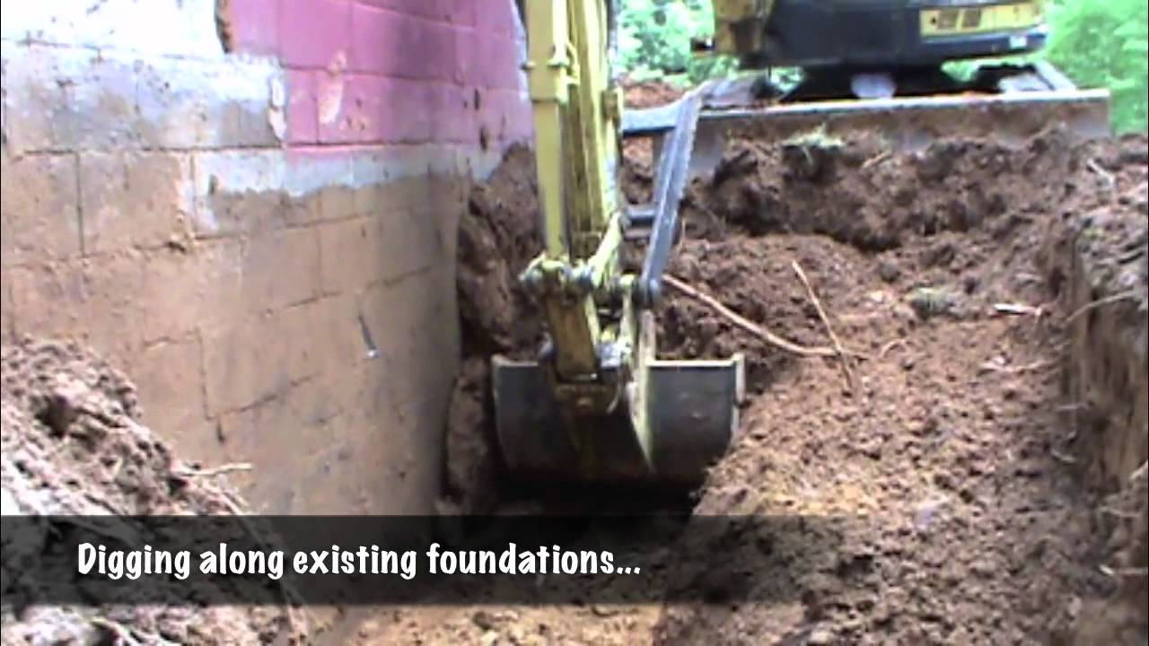 Excavation For New Foundations To Repair Existing