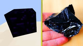 Minecraft OBSIDIAN in REAL LIFE!