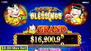 DOUBLE BLESSING Slot Machine $8.80 Max Bet BONUS & BIG WIN | 🔴 Premiere Stream PART 1