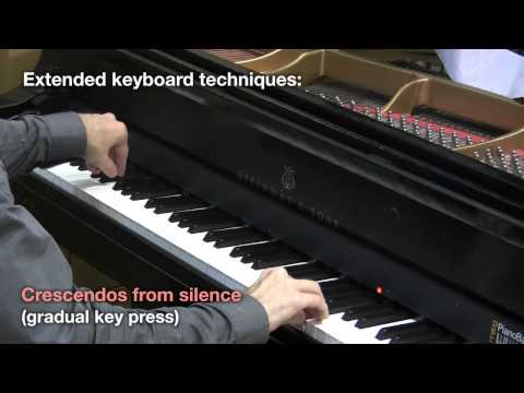 Continuous note shaping on the acoustic piano