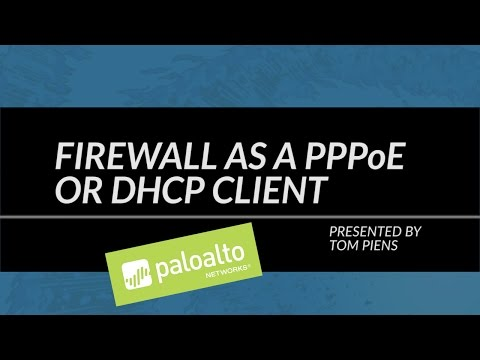 Tutorial: Firewall as a PPPoE or DHCP client