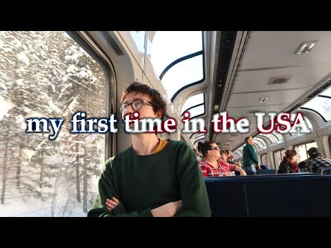NYC to LA BY TRAIN   A 3000-mile no-fly travel film inc. Amtrak California Zephyr in coach in winter