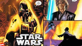 How Darth Vader Killed Anakin Skywalker on Mustafar (CANON) - Star Wars Explained