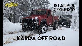 Defender 300 TDI vs 2.5 D | Istanbul Çekmeköy Karda Off Road