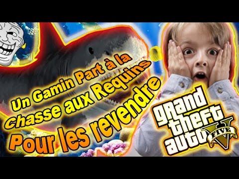 GTA5 - TROLL MOD MENU - UN GAMIN PART A LA CHASSE AUX REQUINS POUR LES REVENDRE