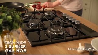 Russell Hobbs 5 Burner Gas Hob Proudct Video RH75GH601B/SS