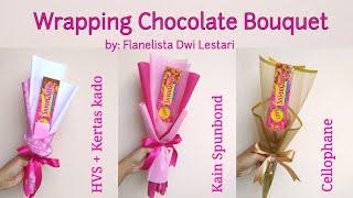 Wrapping Chocolate Bouquet For Valentine Gift | Membuat Hadiah Valentine Buket Coklat