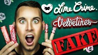 FAKE .v.s. REAL Lime Crime | VELVETINE LIPSTICKS | PopLuxe