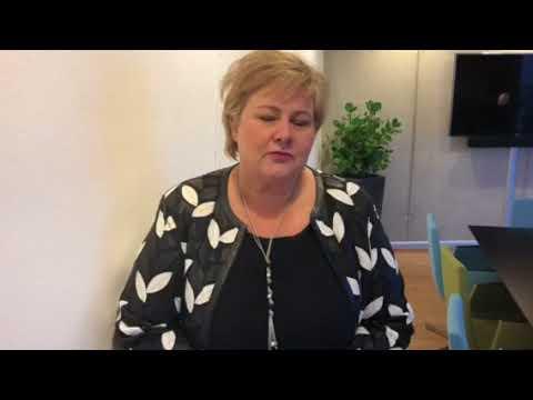 Erna ønsker Agder Høyre og Kristiansand Høyre gratulerer med stiftelsen 2 februar 2018