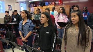 School choir sings in a dozen languages