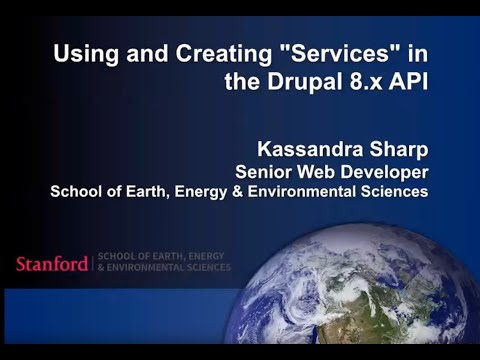 """Using and Creating """"Services"""" in the Drupal 8.x API"""