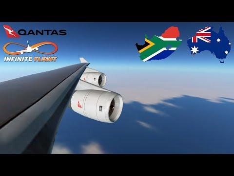 [ANTARCTICA] Infinite Flight GLOBAL: Sydney (SYD) To Johannesburg (JNB) | TIMELAPSE | QANTAS 747