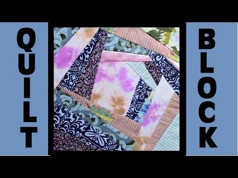 Quilt Block Party - Block 10: Two by Two - Crazy Quilt Block Tutorial