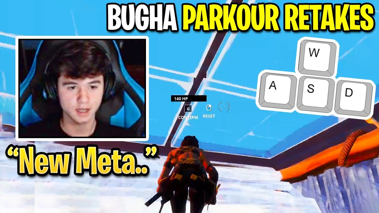 Bugha tries FaZe Sway New Parkour Retakes then Starts Free Building INHUMANLY FAST