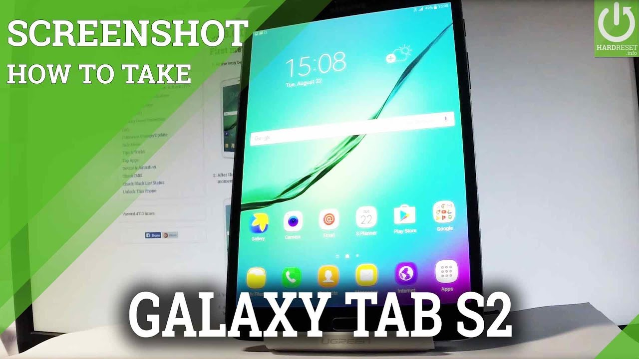 How to Take Screenshot on SAMSUNG Galaxy Tab S2 - Capture Screen