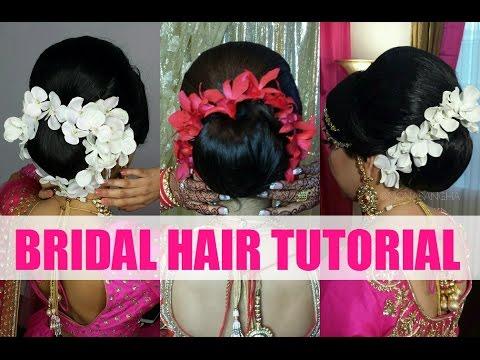 Tutorial  Indian Bridal  Hair  Updo Mona Sangha YouTube