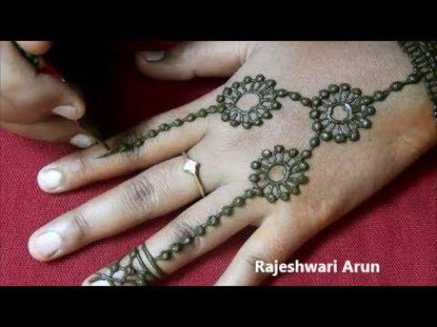 Easy Latest Mehndi Design For Back Hands * Simple Jewellery Mehndi Design 2018 * New Henna Design