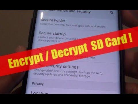 encrypt samsung s9