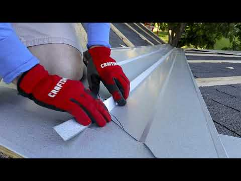 How To Install  Valley For A Metal Roof... Every Cut In Detail