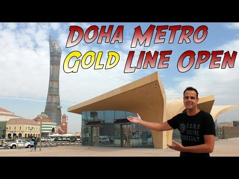 Doha Metro Qatar Rail Gold Line Opens - Take The Metro To Villaggio Or Souq Waqif!