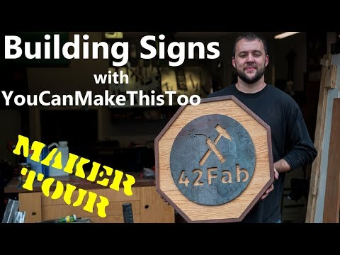 Mixed Media Signs with You Can Make This Too! | Maker Tour