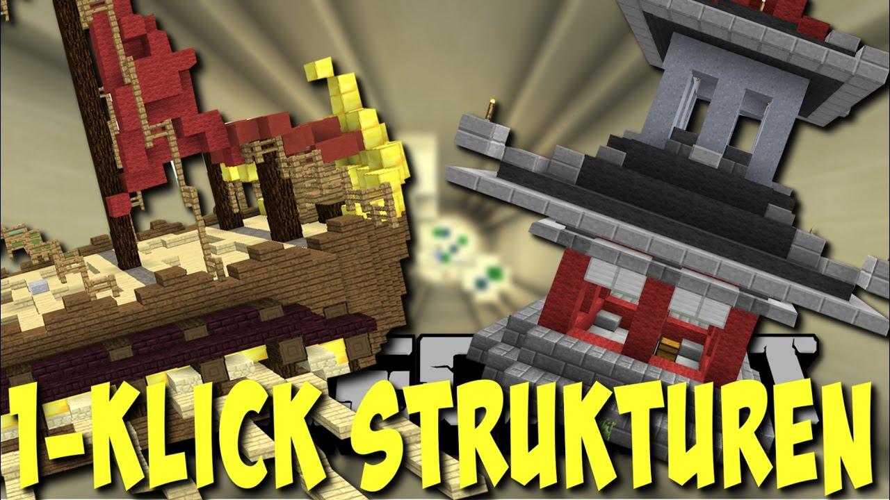 HÄUSER Mit EINEM KLICK Klick Roulette Deutsch YouTube - Minecraft hauser mit einem klick mod