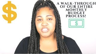 Our Entire Monthly Budget Process Walk-Through | Collab With E. Michelle!