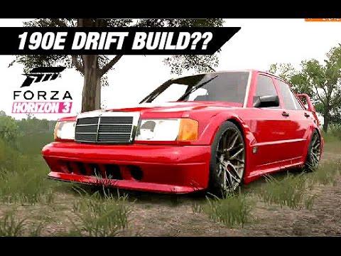 SLAMMED Mercedes 190E Drift Build - Forza Horizon 3