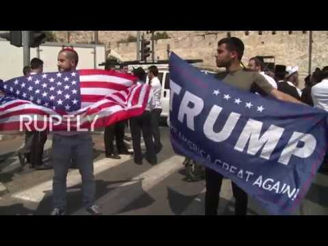 East Jerusalem: Trump supporters welcome U.S President at Western Wall