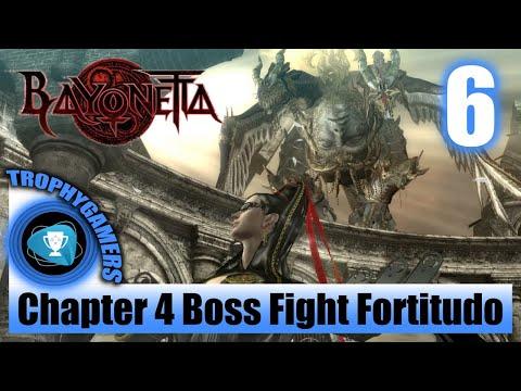 Bayonetta Remastered - Boss Fight Chapter 4 The Cardinal Virtue Of Fortitude - Full Walkthrough P. 6