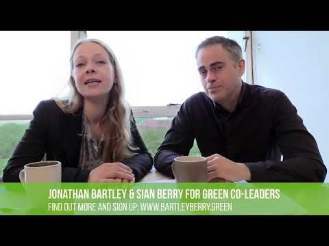 Jonathan Bartley & Sian Berry announce plans to stand as Green co-leaders