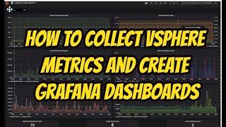 كيفية جمع vSphere المقاييس وخلق grafana لوحات