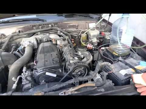 Промывка топливной сис. Toyota Land Cruiser 100.