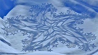Единственный в мире художник создающий рисунки на снегу