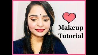 Navratri/Durga Puja makeup tutorial// how to do makeup in Hindi || sakshi11